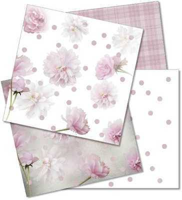 Pink Flowers digi papers