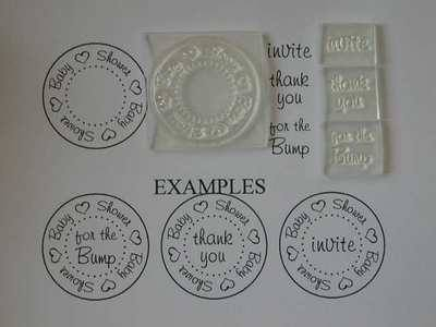 Baby Shower circle stamp set