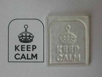 Keep Calm, small tag stamp