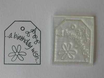 A Birthday Wish, tag stamp with daisy