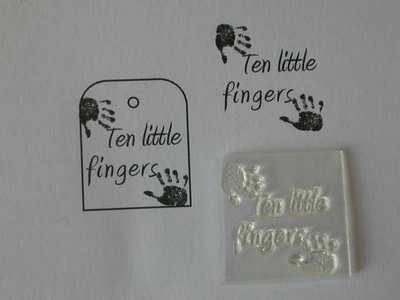 Ten Little Fingers stamp with handprints