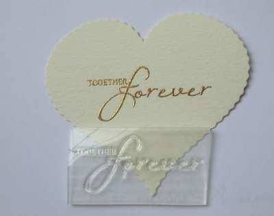 Together Forever, script wedding stamp