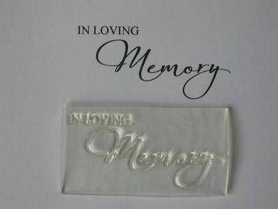 In Loving Memory, script sympathy stamp