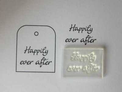 Happily ever after, little stamp