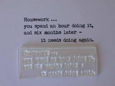 Housework... typewriter font verse