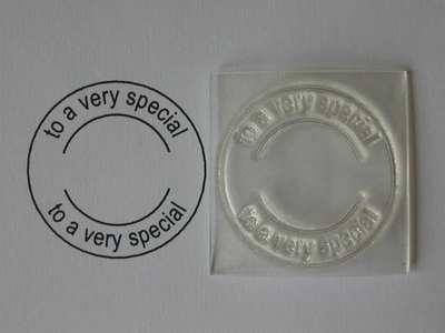 To a very special, 3.5cm circle stamp