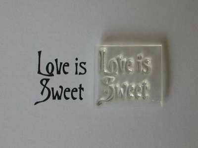 Victorian style Love is Sweet stamp
