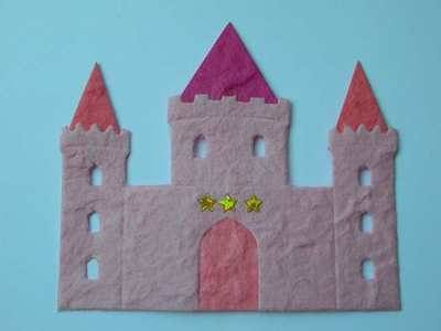 Pink Castle die cut