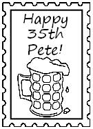 Birthday postage stamp to personalise, beer glass