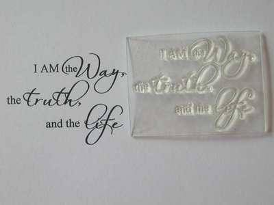 I am the Way, script stamp
