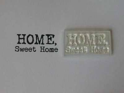 Home, Sweet Home stamp, typewriter font