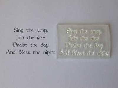 Pagan verse stamp, Sing the Song