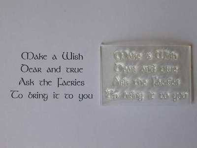 Pagan verse stamp, Make a Wish