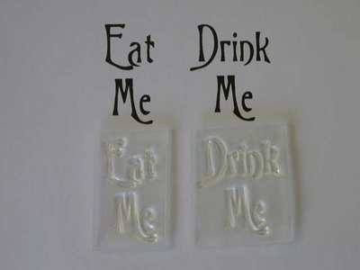 Eat Me, Drink Me stamps