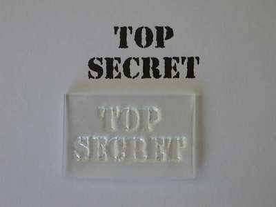 Top Secret 2 line stamp