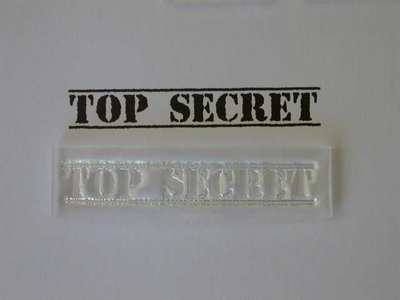 Top Secret lined stamp
