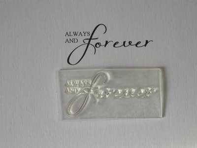 Always and Forever, script wedding stamp