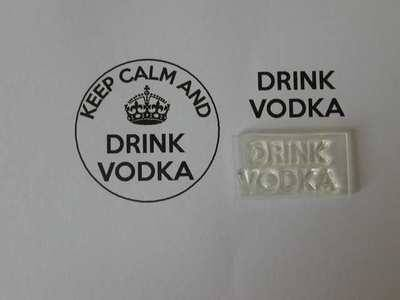 Drink Vodka, for Keep Calm and, stamp