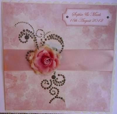 Personalised Wedding Card, Peach