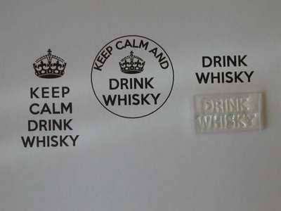 Drink Whisky, for Keep Calm and, stamp