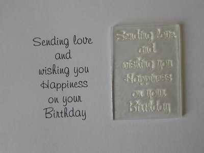 Birthday verse stamp, Wishing Happiness