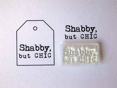 Shabby, but Chic, little typewriter font stamp