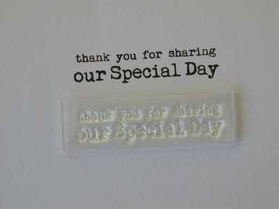 Thank you for sharing our special day, typewriter stamp