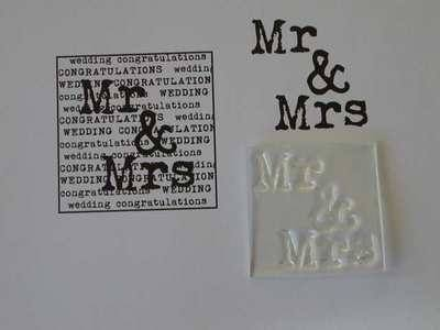 Mr and Mrs stamp, typewriter font
