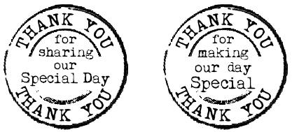 grunge circle craft stamp thank you