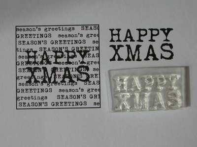 Happy Xmas, 2-line typewriter font