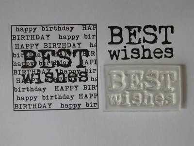 Best Wishes stamp, 2-line typewriter font