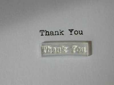 Thank You, little typewriter stamp