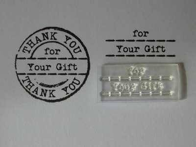 For your Gift stamp, fits Thank You circle