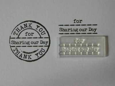 For Sharing our Day stamp, fits Thank You circle