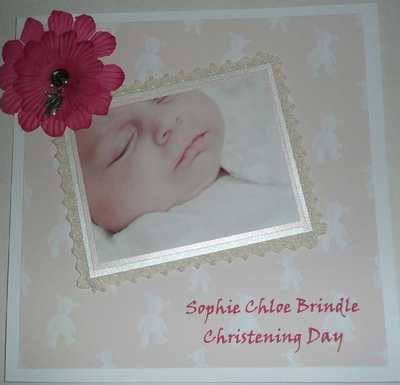 Personalised Christening Card with photo