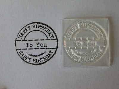 Happy Birthday to you, grunge circle stamp