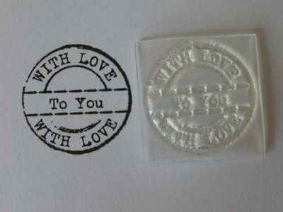 With Love to you, grunge circle stamp