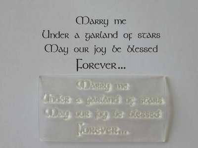 Pagan Handfasting verse stamp, Marry Me
