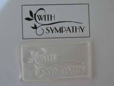 With Sympathy, Deco style framed stamp