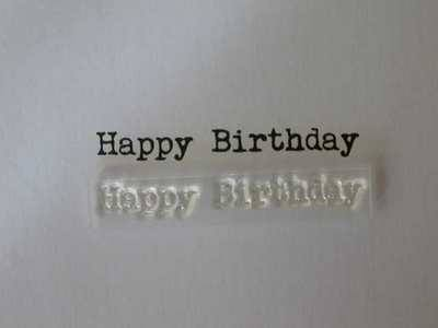 Happy Birthday typewriter stamp