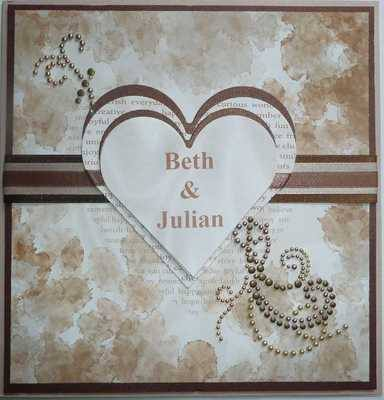 Personalised Wedding Card, Coffee and Cream