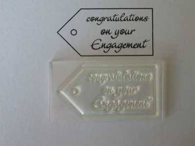 Tag stamp, Congratulations on your Engagement