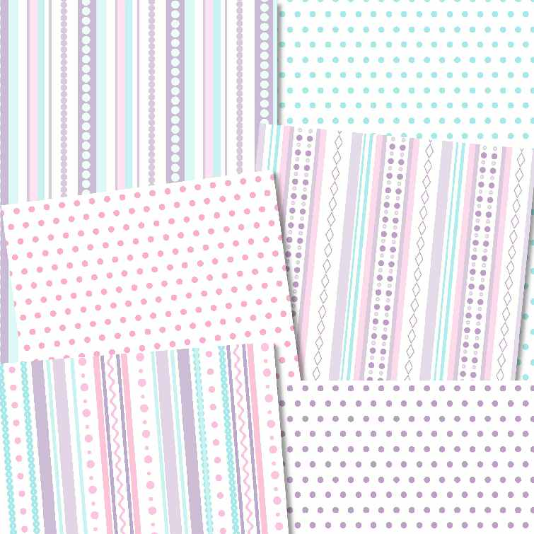 fancy stripes digi papers