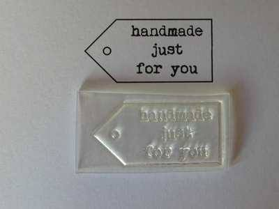 Tag stamp, Handmade just for you typewriter font