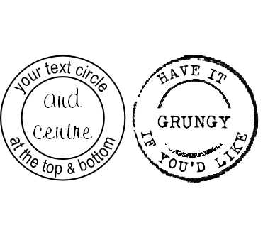 Personalised circle stamp