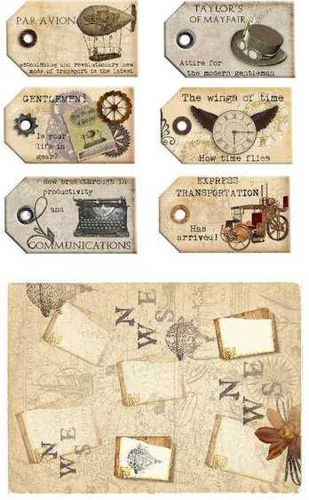 Steampunk tags preview2