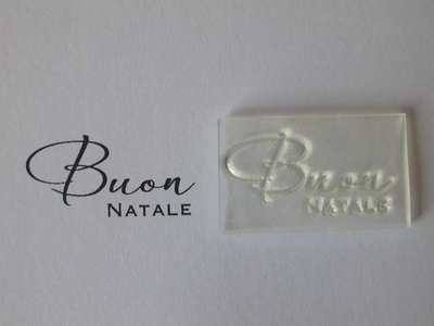Italian Merry Christmas script stamp