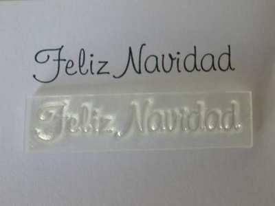 Spanish Merry Christmas stamp