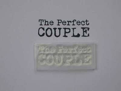 The Perfect Couple, typewriter 2 line stamp