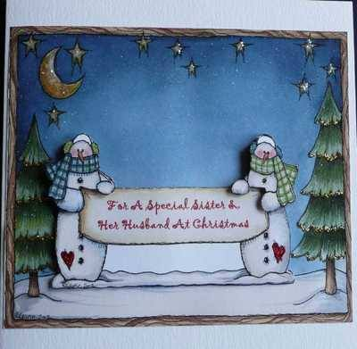 Sister and Husband Christmas card